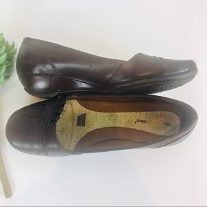Hush Puppies Brown Leather Slip-Ons 9M